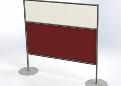 Freestanding perspex screen. Available in clear or coloured perspex