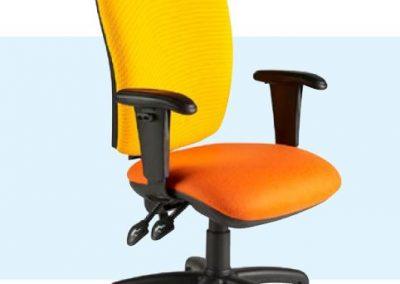 Easy Clean Vinyl Fabric Task Chairs