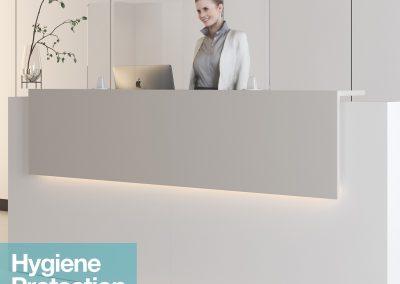 Reception hygiene screens