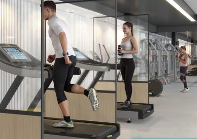 Freestanding hygiene screens for gyms