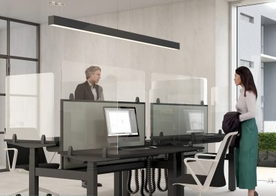 Desking hygiene screens for shared offices